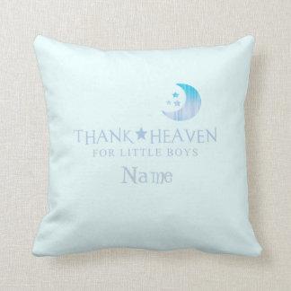 Custom Thank Heaven for Little Boys Pillow