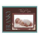 Custom Thank you Baby card for Franky Postcard