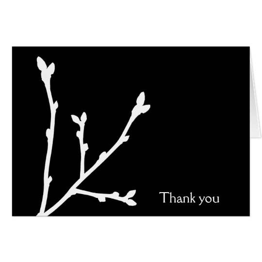 Custom Thank You Cards in Black