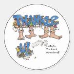 Custom Thank You Feet Stickers