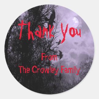 Custom Thank You Halloween Ravens Sticker