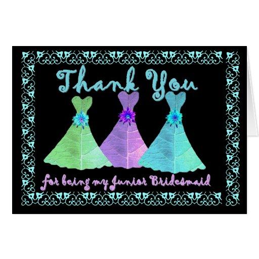 CUSTOM - THANK YOU Junior Bridesmaid with Dresses Card