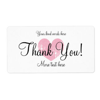Custom thank you party favor water bottle labels