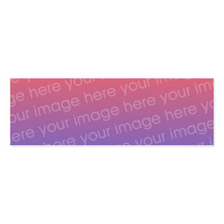 Custom Thank You Photo Bookmark w/Emerson Quote Mini Business Card