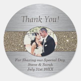 Custom Thank You Wedding Stickers