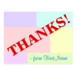"[ Thumbnail: Custom ""Thanks!"" Postcard ]"
