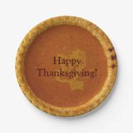 Custom Thanksgiving Paper Plates Pumpkin Pie 7 Inch Paper Plate