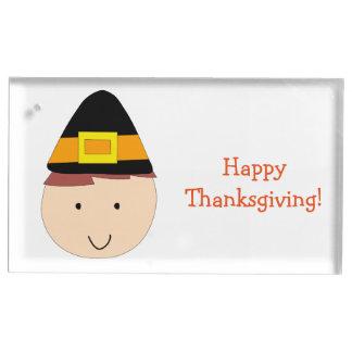 Custom Thanksgiving Place Card Holders Pilgrim