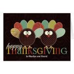 Custom Thanksgiving Silly Patchwork Turkey Greeting Card