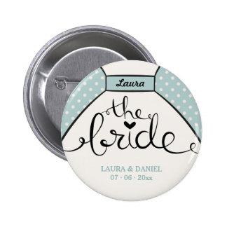 Custom The Bride wedding dress Pinback Button