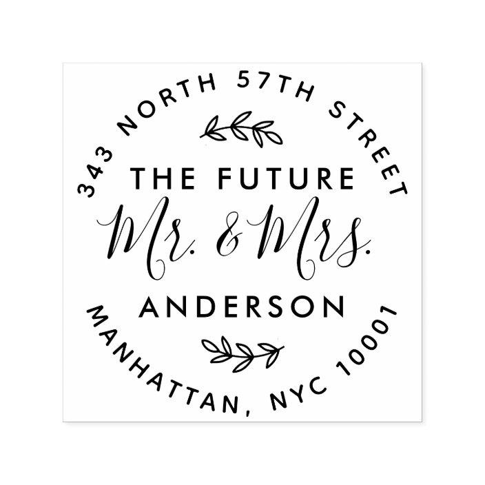 Future Mr Mrs Wedding Return Address