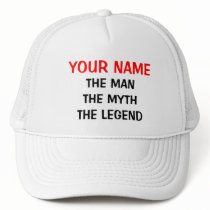 Custom the man myth legend hat