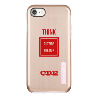 Custom Think outside box monogram Incipio DualPro Shine iPhone 8/7 Case