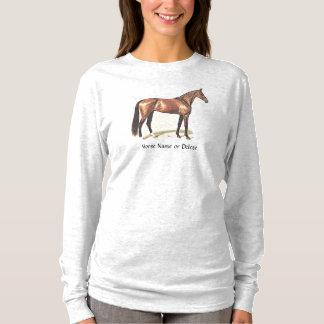 Custom Thoroughbred Hunter Jumper Horse T-Shirt