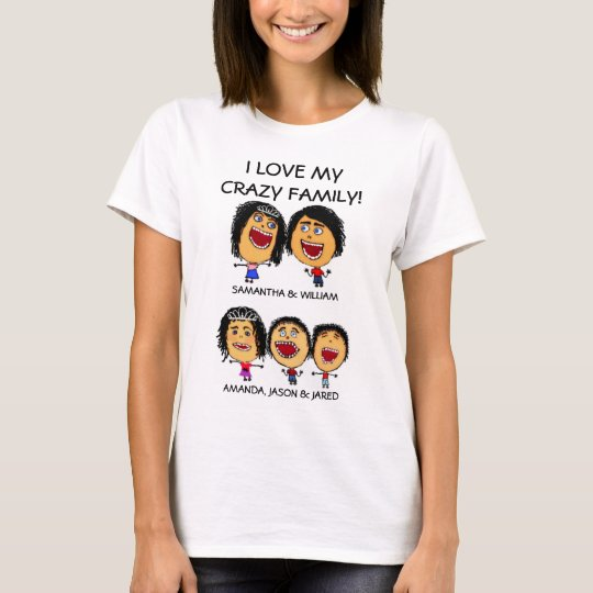 Custom Three Crazy Kids Cartoon T-Shirt