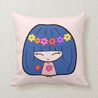 Custom Throw Pillows Cute Kawaii Girl