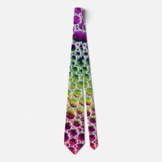 custom tie abstract rainbow bubbles