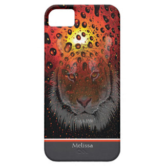 Custom Tiger On African Sunset iPhone SE/5/5s Case