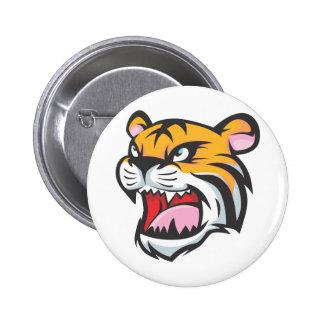 Custom Tiger Roar Cartoon Buttons