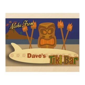 Custom Tiki Bar Sign