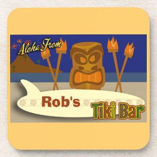 Custom Tiki Bar Sign Drink Coaster