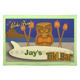 Custom Tiki Bar Sign Placemat