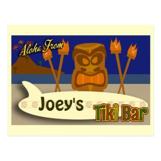 Custom Tiki Bar Sign Postcard
