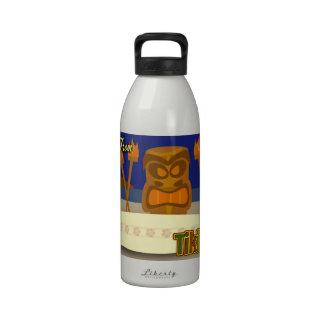 Custom Tiki Bar Sign Reusable Water Bottle