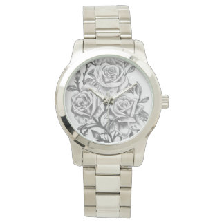 custom time to smell the roses wrist watch