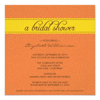 custom Timeless Bridal Shower (orange/yellow) Card