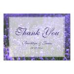 Custom Tiny Lavender Wedding Thank You Card