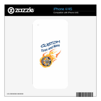 Custom Tires And Rims Skins For iPhone 4S