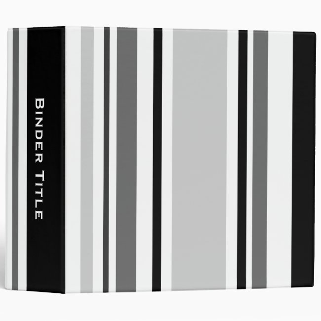 Custom Title—Mixed Gray, Black, White Stripes
