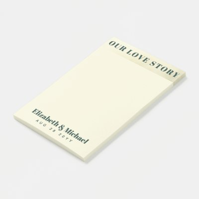 Custom - To Match Our Love Story Wedding Suite Post-it Notes