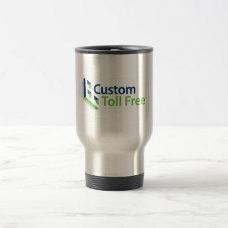 Custom Toll Free Coffee Time 15 Oz Stainless Steel Travel Mug