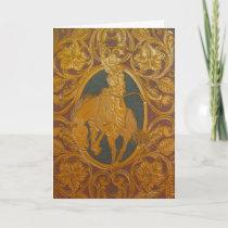 Custom tooled leather image greeting card