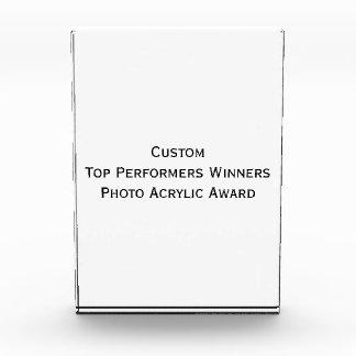 Custom Top Performers Winners Photo Acrylic Award