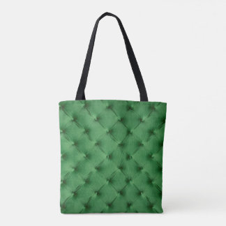 Custom Tote Bag with red and green capitone