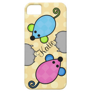 Custom Toy Mice and Cat Paws iPhone 5/5S Case