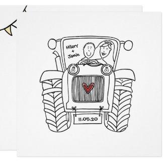 Custom Tractor Country Wedding Invitation