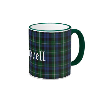 Custom Traditional Campbell Tartan Plaid Ringer Coffee Mug