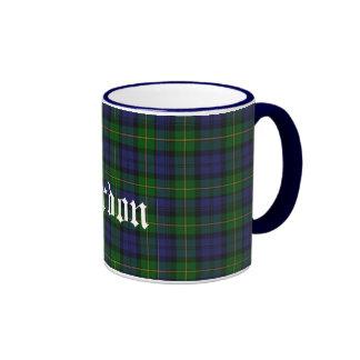 Custom Traditional Gordon Tartan Plaid Ringer Coffee Mug