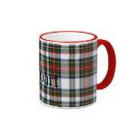 Custom Traditional Stewart Tartan Plaid Ringer Coffee Mug