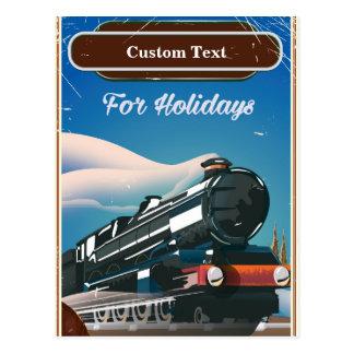 Custom Train travel poster Postcard