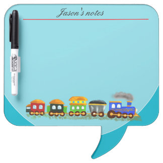 Custom train with multicolor wagons dry erase boards