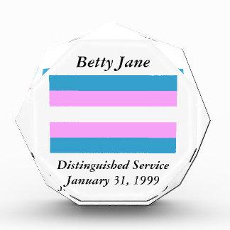 Custom Trans Flag Award