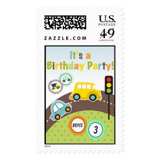 Custom Transportation Birthday Postage Stamps