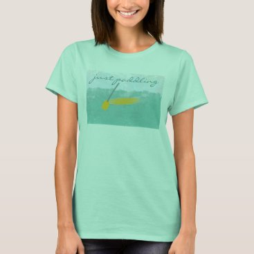 Beach Themed Custom Travel Sea Vacation Just Puddling T-shirt