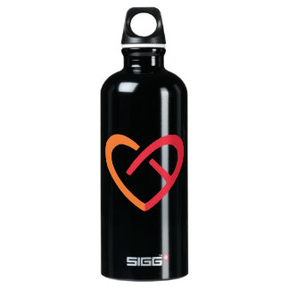 Custom Traveller (0.6L), Black Aluminum Water Bottle