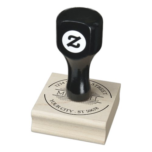 Custom Trendy Modern Chic Simple Art Deco Motif Rubber Stamp